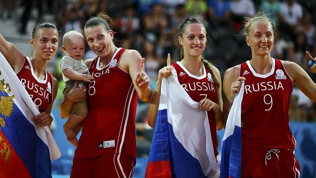 Ruské basketbalistky na Evropských hrách v Baku.