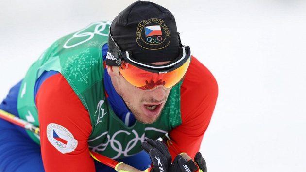 Martin Jakš během štafetového závodu na letošní olympiádě.