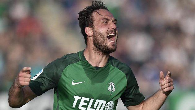 Martin Doležal se raduje z prvního gólu Jablonce.