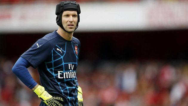 Brankář Arsenalu Londýn Petr Čech proti Lyonu nenastoupil.