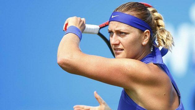Petra Kvitová během zápasu s Terezou Smitkovou.