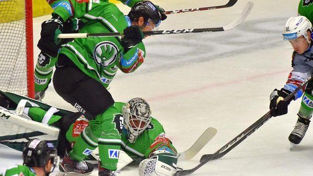 Hokejisté Mladé Boleslavi v zápase Generali Česká Cup.