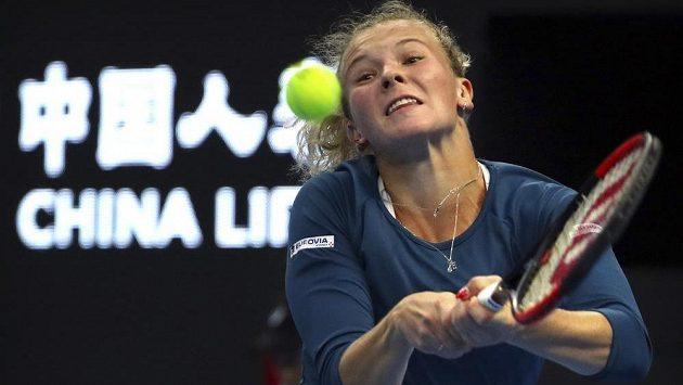 Cesta české tenistky Kateřiny Siniakové skončila na turnaji v Pekingu ve čtvrtfinále.