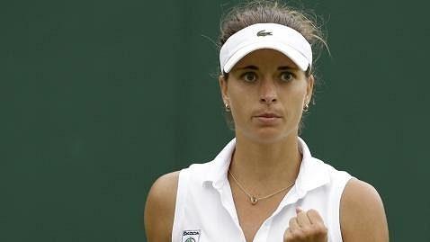 Petra Cetkovská ve Wimbledonu.