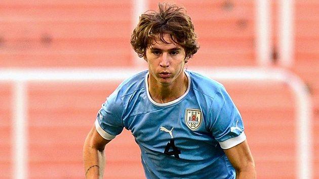 Obránce Guillermo Varela v dresu uruguayské reprezentace do 20 let.