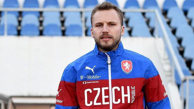 Obránce Michal Kadlec na tréninku české fotbalové reprezentace.