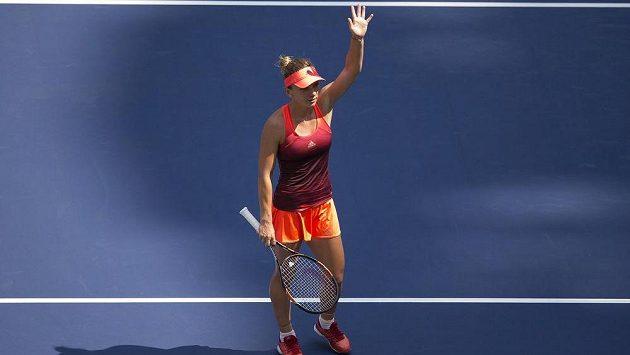 Rumunská tenistka Simona Halepová po vítězství v prvním kole French Open.