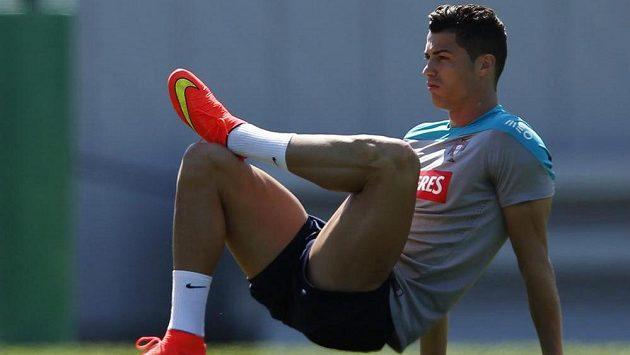 Cristiano Ronaldo se v sobotu v New Jersey zapojil do tréninku portugalské reprezentace.