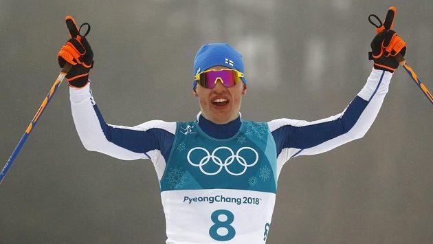 Vítěz olympijského závodu na 50 km Fin Iivo Niskanen.
