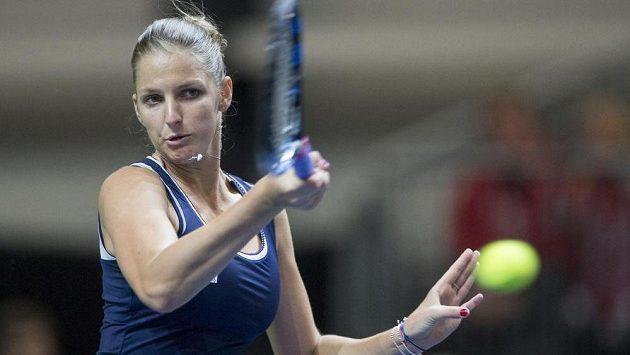Karolína Plíšková (na snímku) udolala na turnaji ve Stuttgartu Lucii Šafářovou.