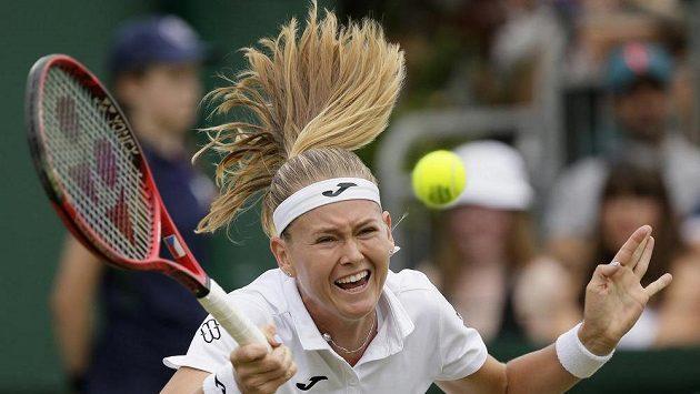 Česká tenistka Marie Bouzková v akci - ilustrační foto.