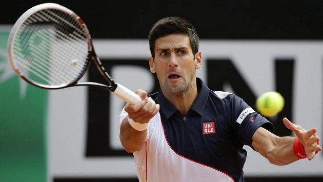 Srbský tenista Novak Djokovič v duelu s Radkem Štěpánkem.
