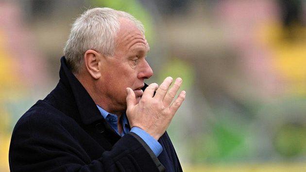 Trenér Příbrami Pavel Tobiáš při utkání s Bohemians.