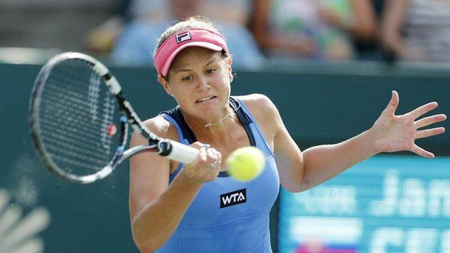 Slovenská tenistka Čepelová během semifinále turnaje v Charlestonu.