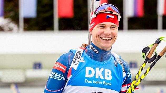 Biatlonista Michal Krčmář
