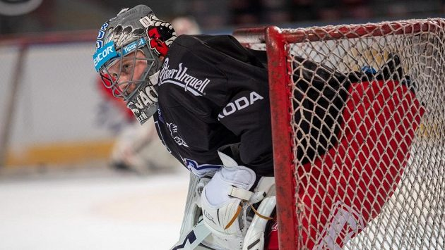 Dominik Frodl na tréninku české hokejové reprezentace.