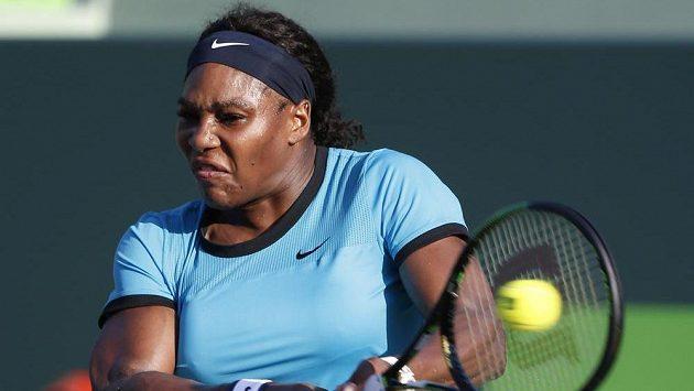 Serena Williamsová na turnaji v Miami.