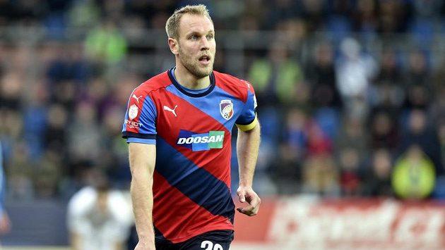 Daniel Kolář z Plzně se raduje z gólu proti Slovácku.