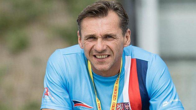Kanoista Petr Bubanec na mistrovství světa v Račicích.