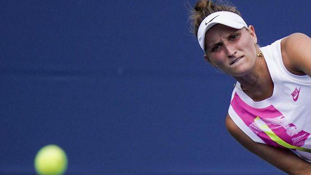 Markéta Vondroušová nástrahy prvního kola US Open zvládla.