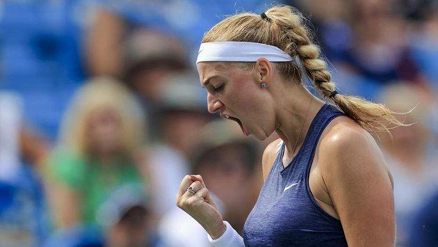 Česká tenistka Petra Kvitová zvládla v Cincinnati i zápas 2. kola proti Rusce Veronice Kuděrmětovové.