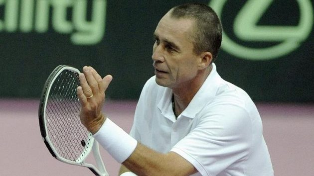 Ivan Lendl při exhibici tenisových legend s Borgem
