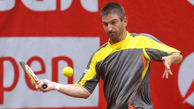 Jan Hájek ve finálovém utkání turnaje UniCredit Czech Open v Prostějově