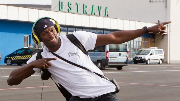 Jamajský sprinter a největší atrakce blížícího se mítinku Zlatá tretra Usain Bolt přistál 21. května v Ostravě.