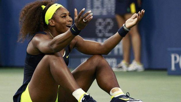 Serena Williamsová se raduje z vítězství ve finálové bitvě US Open.