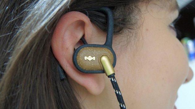 Sportovní bezdrátová sluchátka Marley Uprise.
