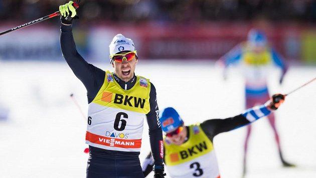 Italský běžec na lyžích Federico Pellegrino