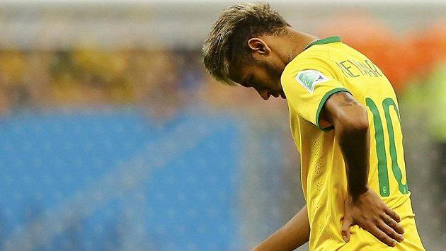 Zklamaný Neymar po prohře Brazilců v zápase o třetí místo.