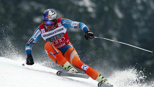 Norský lyžař Svindal v Kvitfjellu.