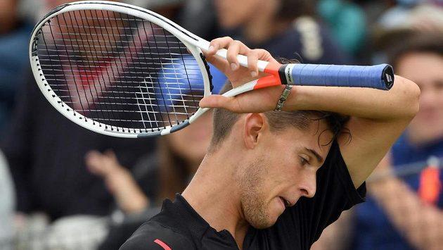 Rakušan Dominic Thiem ve finále turnaje ve Stuttgartu.