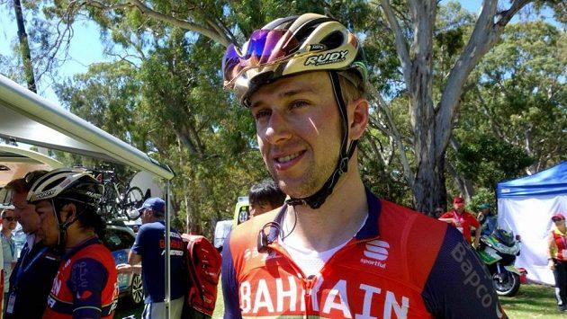 Český cyklista Ondřej Cink během závodu Tour Down Under v Austrálii.
