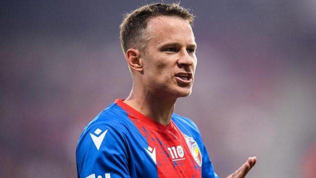Plzeňský Jan Sýkora během utkání se Spartou.