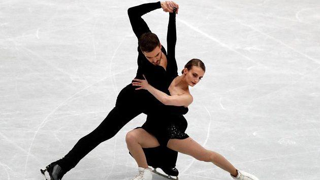 Francouzi Gabriella Papadakisová a Guillaume Cizeron na MS.
