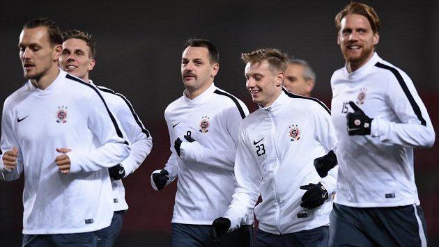 Fotbalisté Sparty jsou před utkáním s Neapolí dobře naladěni.