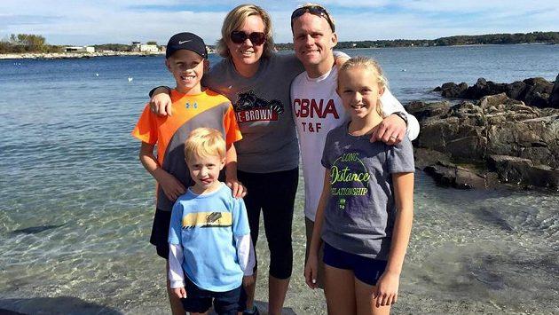 Celá rodina Coxova pohromadě. Běhání je jejich společná vášeň.