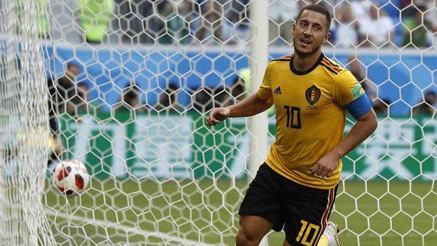 Eden Hazard se raduje ze svého gólu proti Anglii.