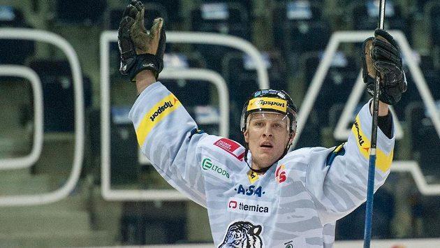 Autor prvního gólu utkání proti Plzni, liberecký Tomáš Urban.