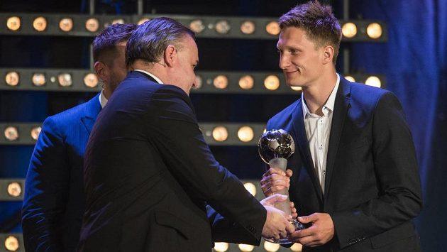Slávistický kanonýr Milan Škoda během Galavečera ePojištění ligy.