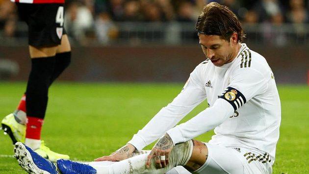 Sergio Ramos po jedné z šancí Realu v zápase s Bilbaem.