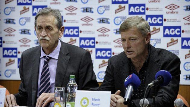 Trenér Teplic Zdeněk Ščasný (vpravo) a předseda představenstva klubu Pavel Šedlbauer.
