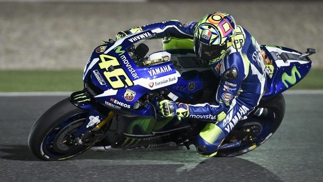 Italský závodník Valentino Rossi.