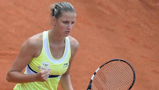 Karolína Plíšková na pražském turnaji žen J&T Banka Prague Open.