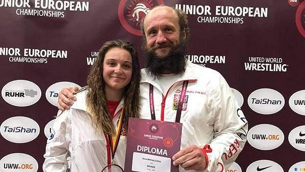 Anna Michalcová s trenérm Pavlem Kučerou.