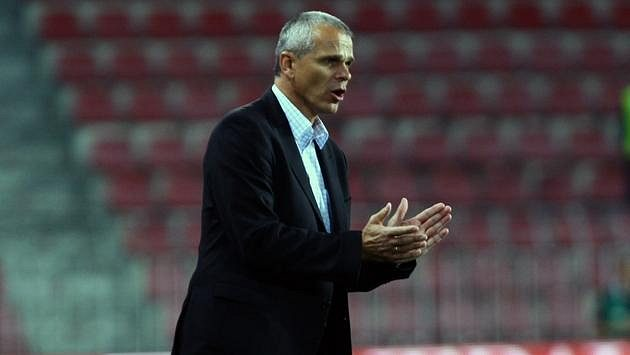 Trenér fotbalové Sparty Vítězslav Lavička byl s výkonem proti Bilbau spokojen.