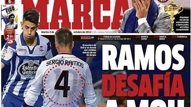 Deník Marca odhalil, jak Sergio Ramos nosil dres Mesuta Özila.