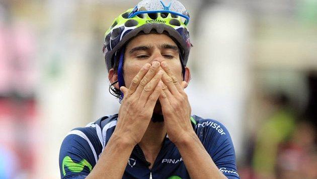 Andrey Amador se raduje z vítězství ve 14. etapě Gira d´Italie